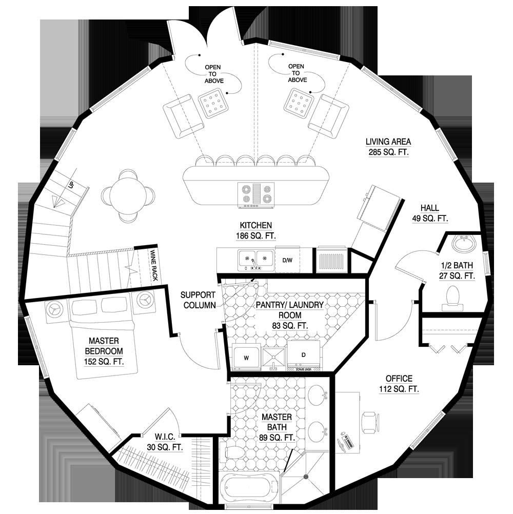 Deltec Homes Floorplan Gallery Round Floorplans Custom Floorplans Floor Plans My House Plans Unique House Plans
