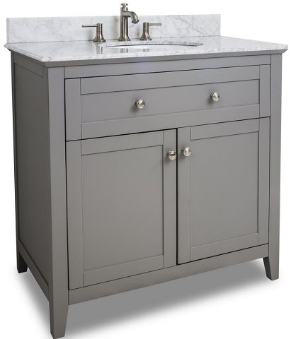 36 Gray Shaker Style Bathroom Vanity Van102 36 T From Hardware Resources Bathroom Ideas