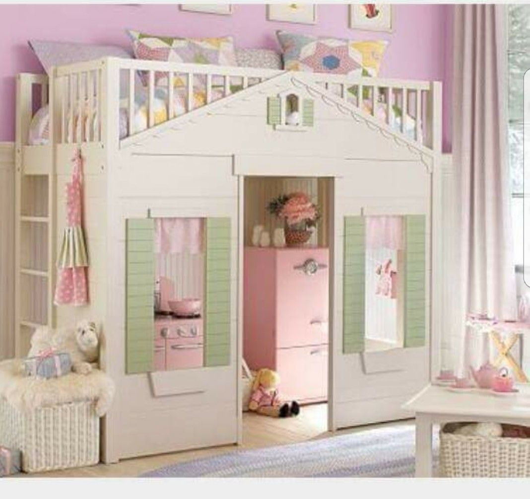Pottery Barn Kids Cottage Twin Bunk Bed Playhouse Matress