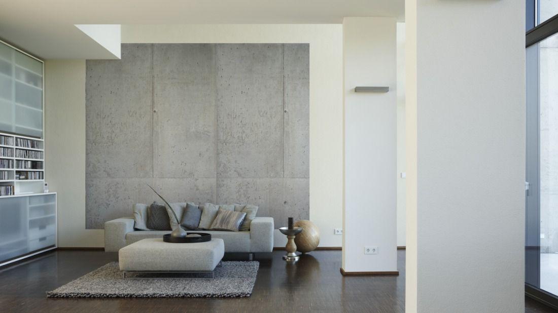 Betonwand wohnzimmer ideen fur was wohndesign - Betonwand wohnzimmer ...