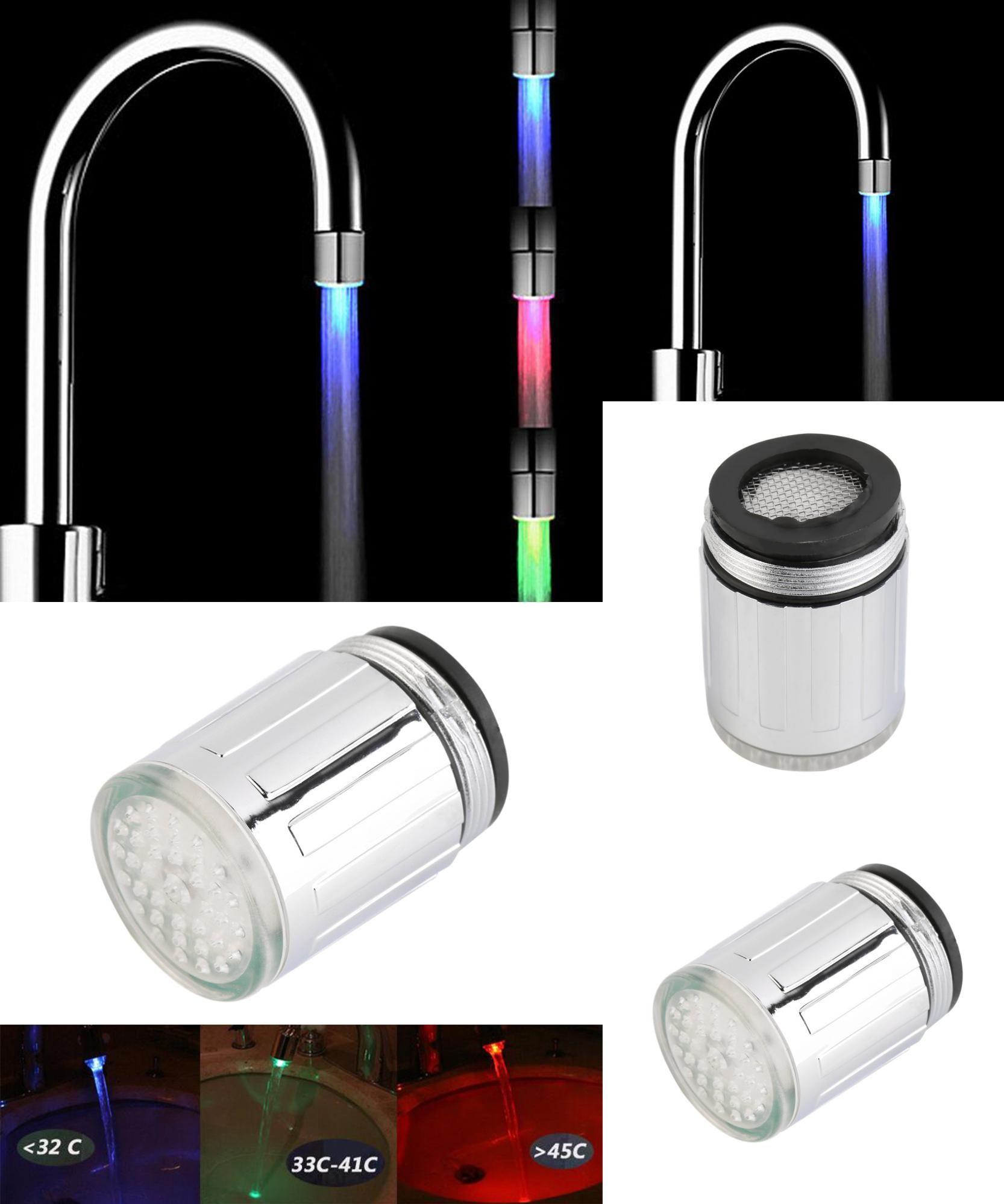 Visit to Buy] Temperature Sensor LED Light Water Faucet Tap Glow ...