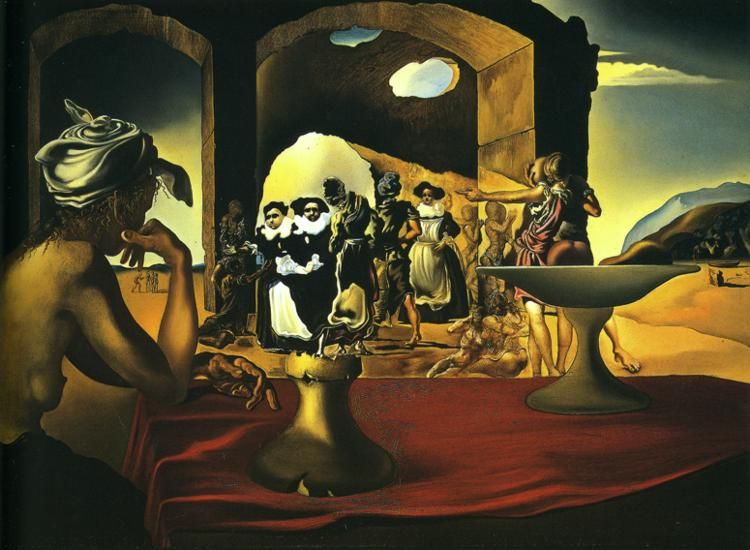 Slave Market with the Disappearing Bust of Voltaire (1940) by Salvador Dalí