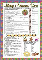 English worksheet: Video: Mickey´s Christmas Carol (Disney) | Tefl ...
