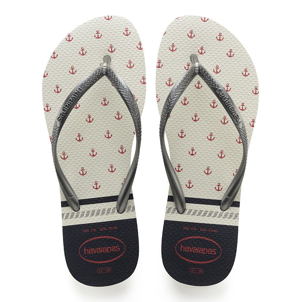 48993ac03ddcdd Havaianas Slim Nautical Sandal White Graphite Price From  25