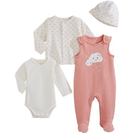 IN EXTENSO Ensemble salopette + body + gilet + bonnet   Shopping BB ... 6632453d611