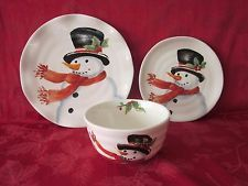 MAXCERA TOP HAT SNOWMAN FROSTY HOLIDAY CHRISTMAS 12 PC DINNERWARE SET & MAXCERA TOP HAT SNOWMAN FROSTY HOLIDAY CHRISTMAS 12 PC DINNERWARE ...
