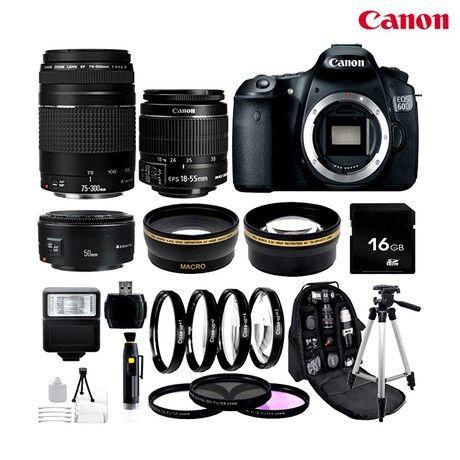 15-Piece Set: Canon EOS 60D 18MP 1080p DSLR Camera with ...