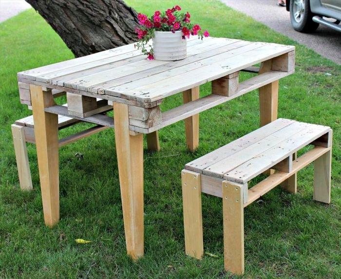 1001 Modeles De Table De Jardin En Palette A Faire Soi Meme Palette Jardin Table De Jardin Meuble Jardin Palette