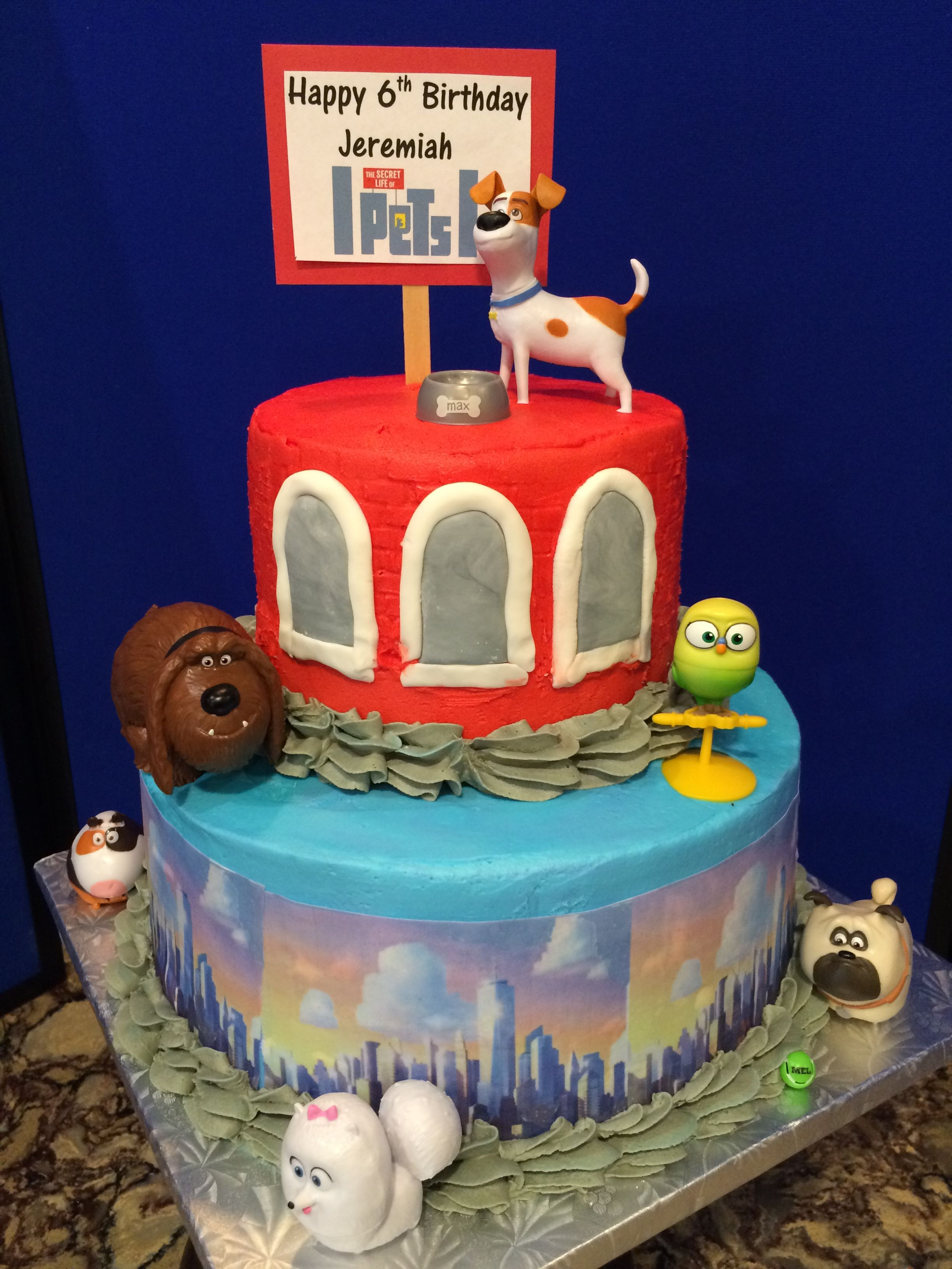 The Secret Life Of Pets Cake Dog Cakes Birthday Treats Happy