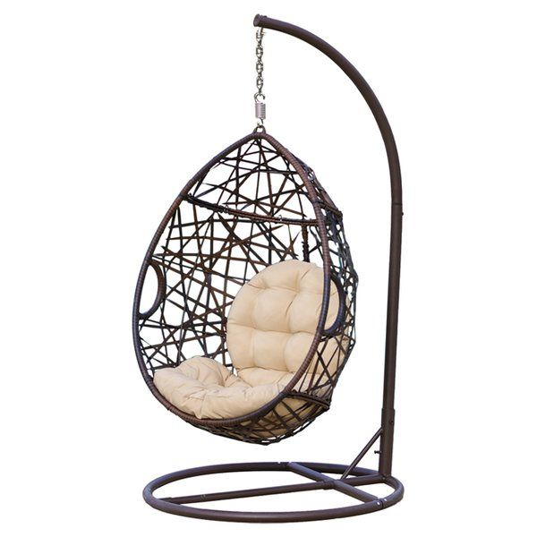Anner Tear Drop Swing Chair With Stand Hanging Swing Chair