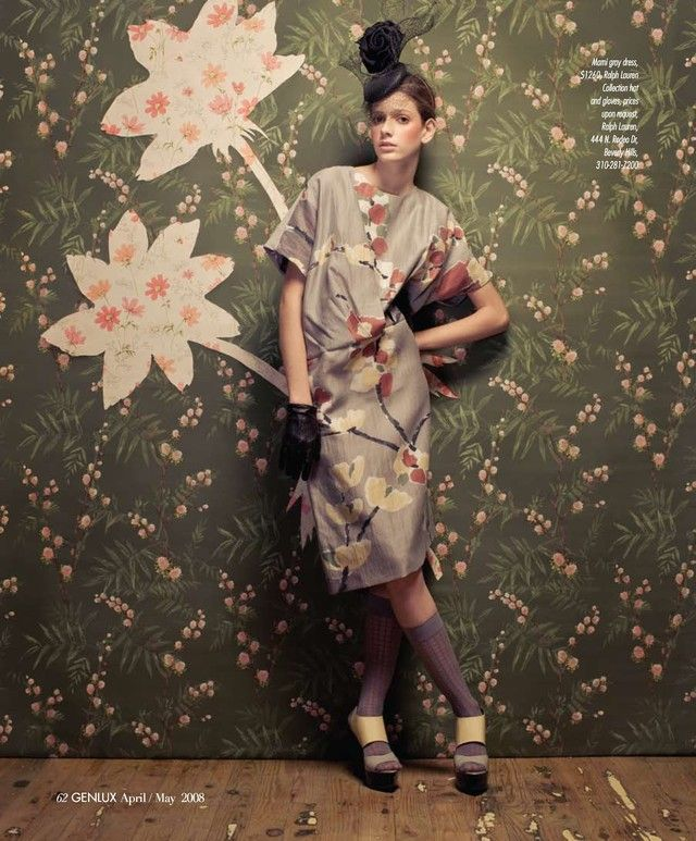 fashion and wallpaper : : Genlux Editorial In Full Bloom