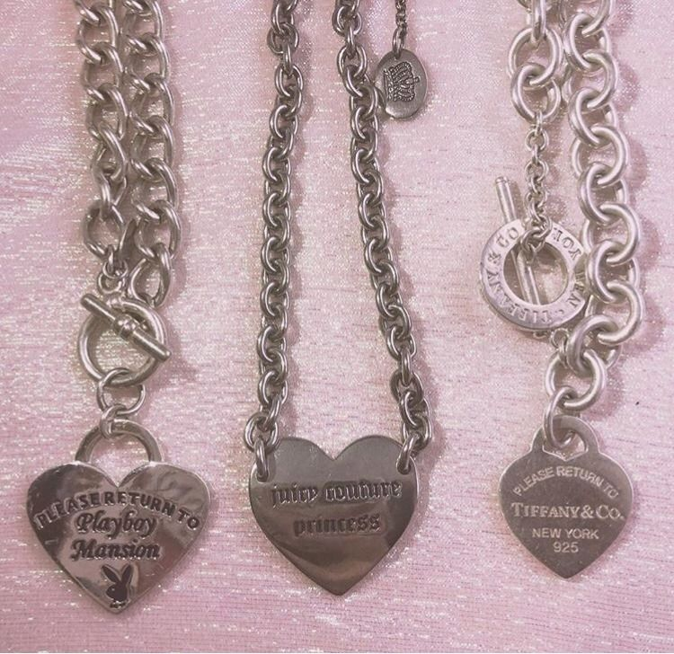 Fashion For Lover Metal Jewelry Charm Heart Tag Pendant Chain Necklace
