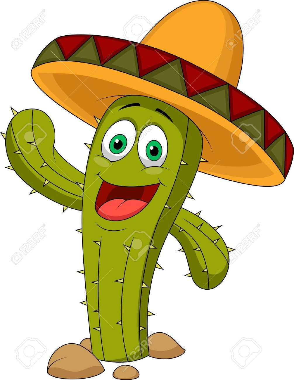 Cartoon Characters Mexican : Cute cactus cartoon character stock vector mexico