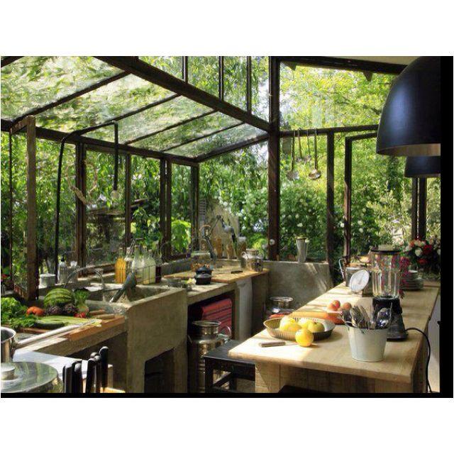 Greenhouse Kitchen, Bohemian Style Kitchen