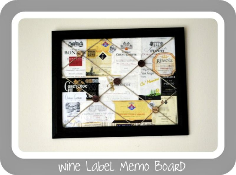 Boy, Oh Boy, Oh Boy Crafts: Decoupaged Wine Label Memo Board