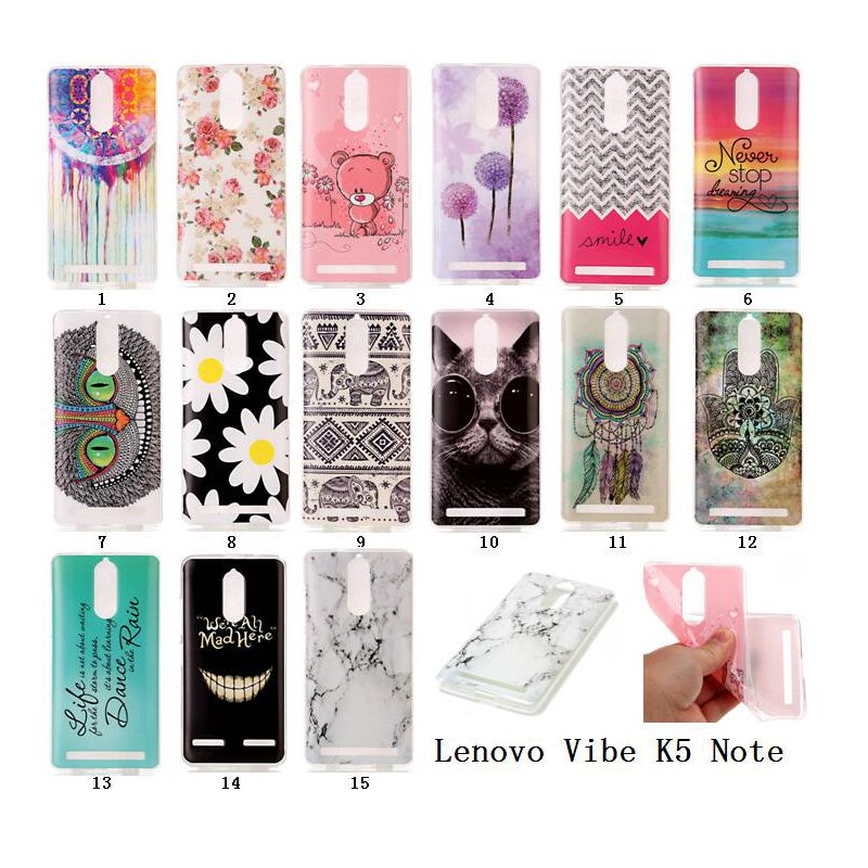 newest a1d53 f80a8 For Lenovo K5 Note Case 5.5 inch Cute Landscape Owl Rubber Soft TPU ...