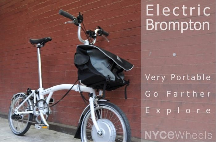 Electric Motor Kit For The Brompton Folding Bicycle 1 295 00item Ep Co Brompton