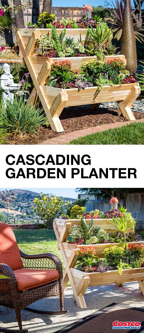 Not Only Can This Cedarcraft Cascading Garden Planter Help You