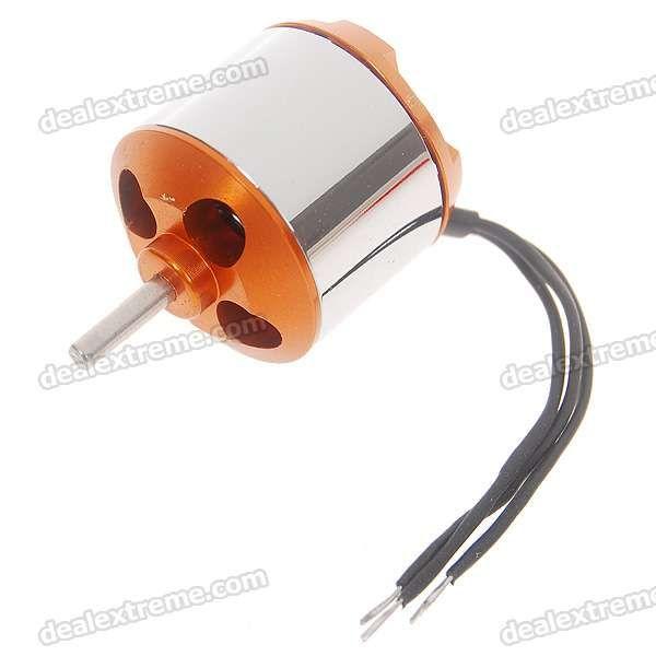 A1510 2200KV Outrunner Brushless Motor. Rotational speed: 2200 KV - 2~3S Li-ion battery - Internal resistance: