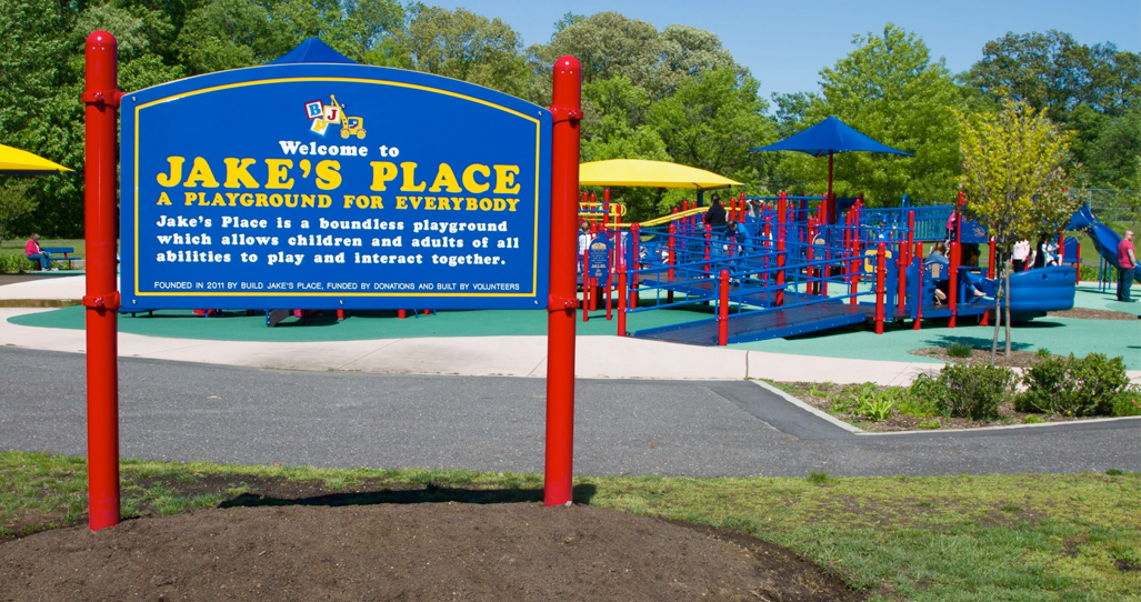 Jake's place is an excellent playground for children with special needs.  It is very popular.  If you have a child with anxiety about things being too crowded, go off hours like in the early morning, etc. . .