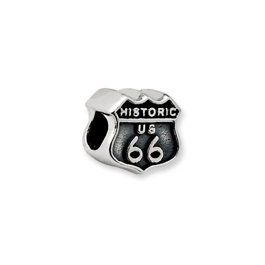 d39057a4c Route 66 Charm in Silver for Pandora and most 3mm bracelets | Charm ...