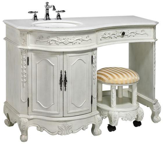 Bathroom Vanity With Makeup Vanity Attached 48 Rosewood Vanity
