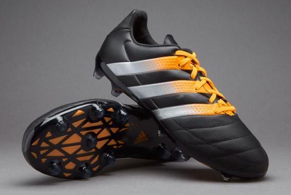 new arrivals 619e5 f66ad adidas ACE 16.2 FG AG Leather - Core Black Silver Metallic Solar Gold