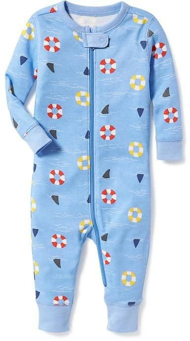 d4f7c1521ad6 Shark-Fin Print One-Piece Sleeper for Toddler   Baby  ad