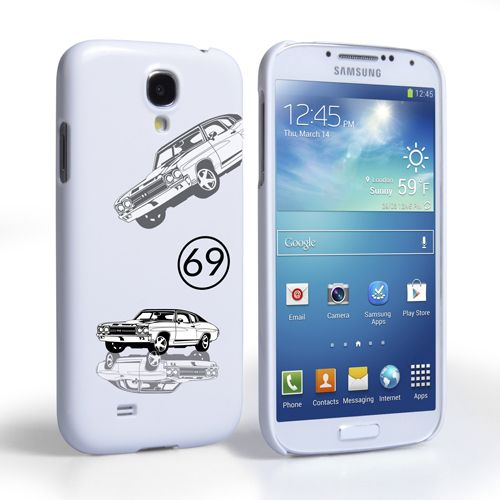Caseflex Chevrolet Chevelle Classic Car Samsung Galaxy S4 Mini Case- White | Mobile Madhouse