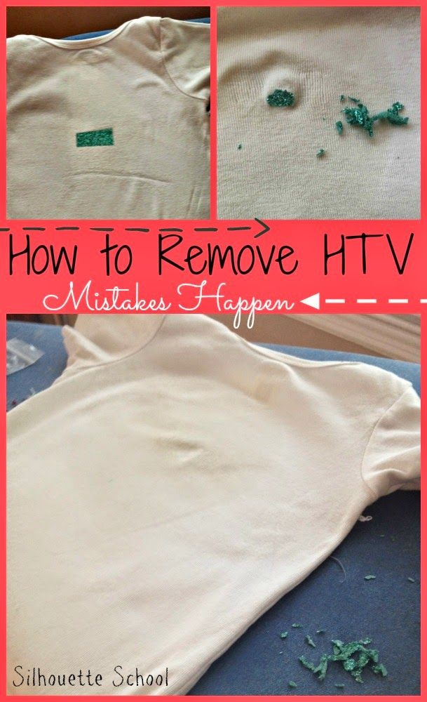 How to Remove Heat Transfer Vinyl Mistakes - Silhouette School