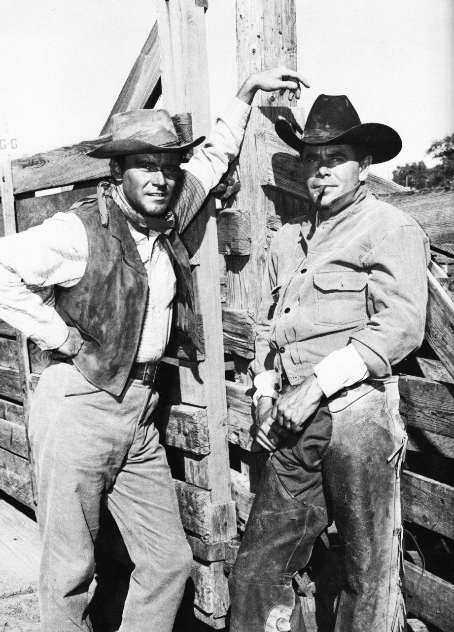 A key dramatic sequence in Cowboy (1958) involved Glenn Ford and Jack Lemmon stuck in one of the cars among the cattle and Glenn having to save Jack from being trampled and gored by the angry longhorns. Director Daves set up three...