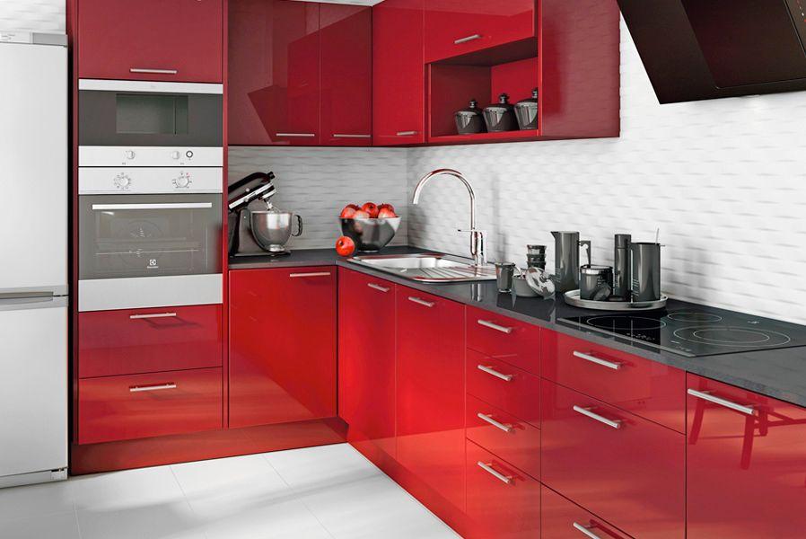Sue a tu cocina en color burdeos destila elegancia - Cocinas rojas modernas ...
