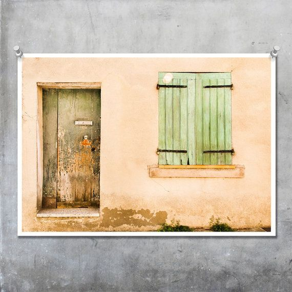 Green Door and Shutters in Arles, Provence, France £21.50   old ...