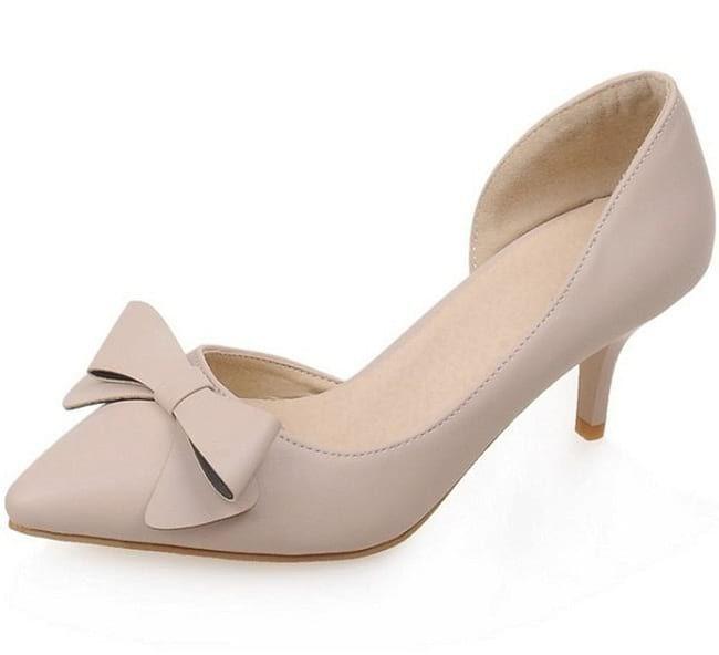 f919ca4017e Nude Pointed Toe Kitten Heels | Women's Trending Fashion in 2019 ...