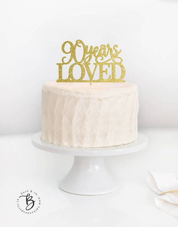 SALE 100 Years Loved Cake Topper 100th Birthday