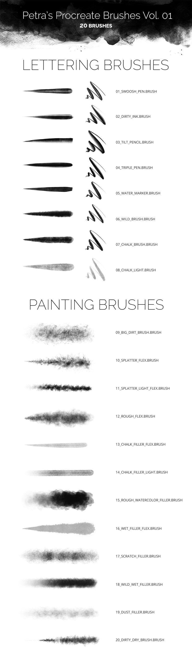 350+ Free Procreate Brushes for the iPad Pro