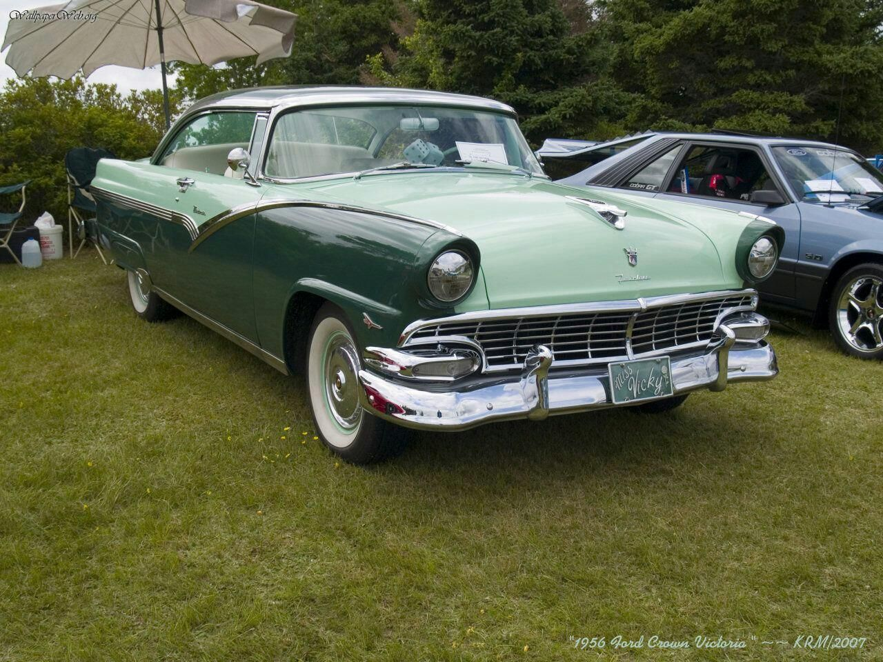 1956 ford customline wagon old car hunt - Two Tone Green 1956 Ford Crown Victoria