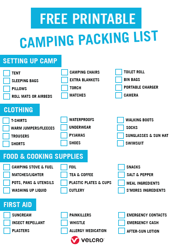 Photo of What to Take Camping + Free Printable Checklist