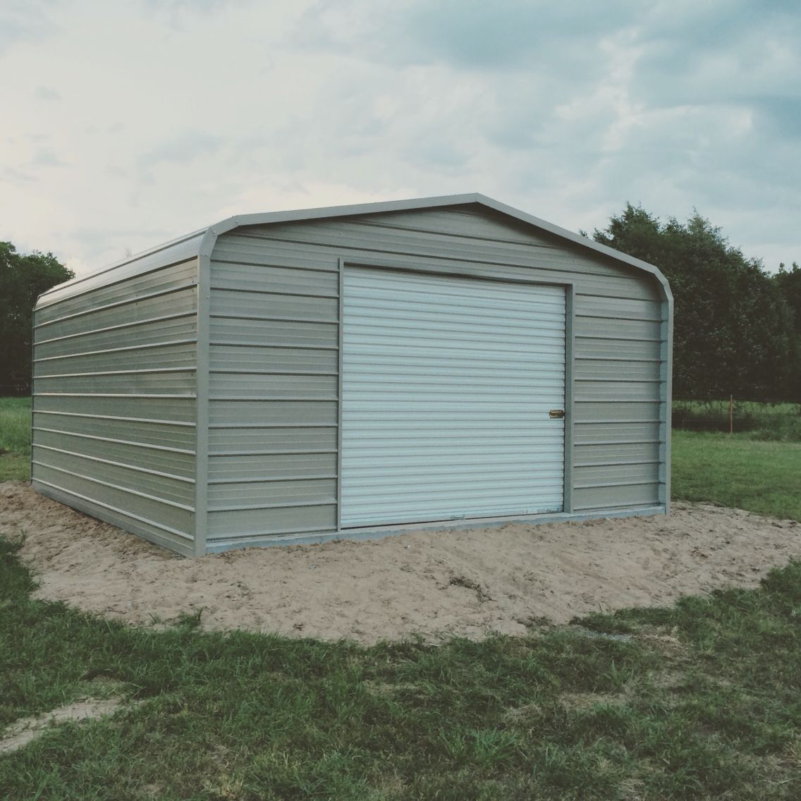 We Order This 18u0027x21u0027 Metal Shop Building From Gatorback Carports. They  Built It On The Cement Slab We Had Poured In About 3 Hours.