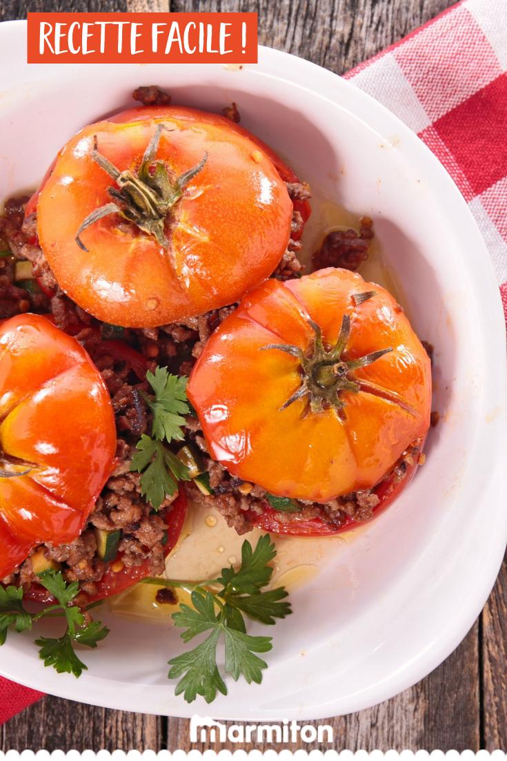Tomates Farcies A La Viande Et Au Parmesan Recette Recette