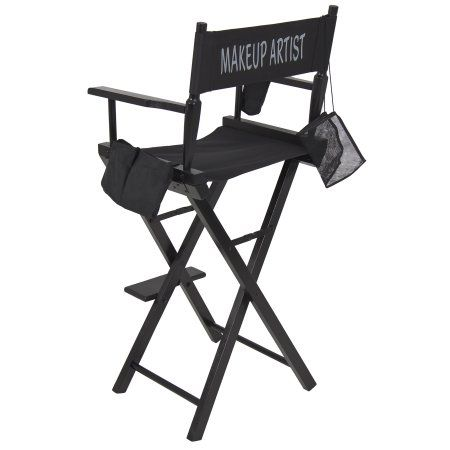 Best Choice Products Foldable Lightweight Professional Makeup Artist Directors Chair Black Walmart Com Makeup Artist Chair Makeup Chair Artist Chair