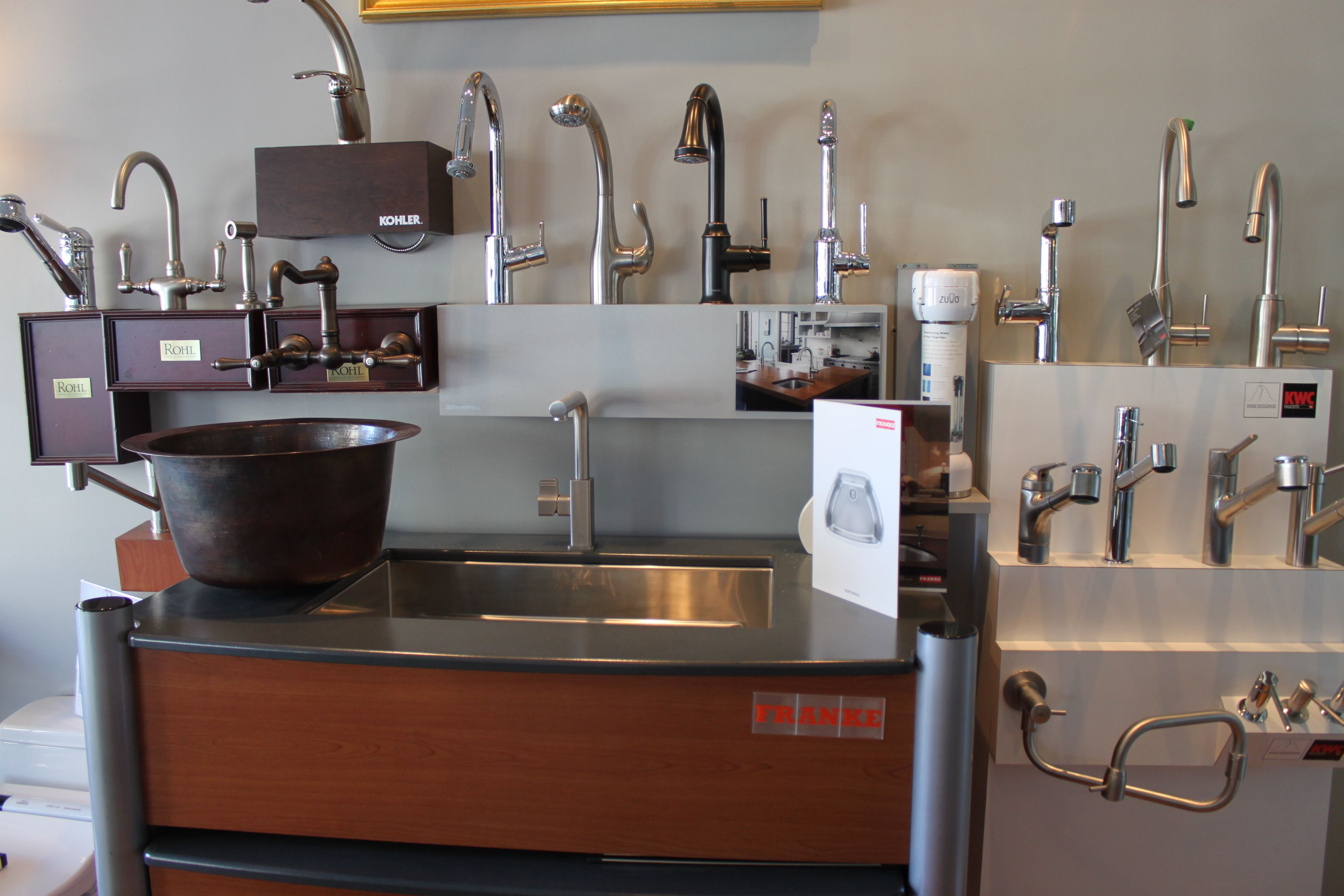 The Portland showroom also has a wide variety of kitchen faucets on ...