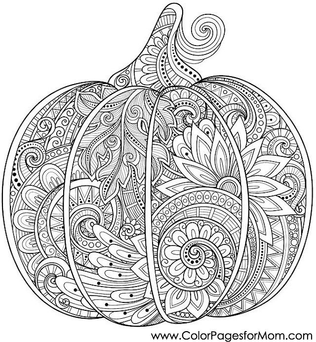 Coloring pages for adults Halloween Pumpkin Coloring