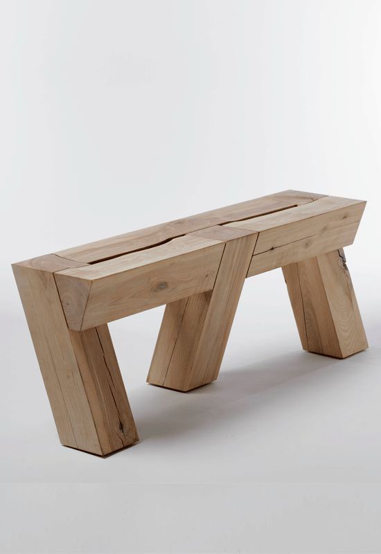 Meyer Von Wielligh Raw Wood Bench With