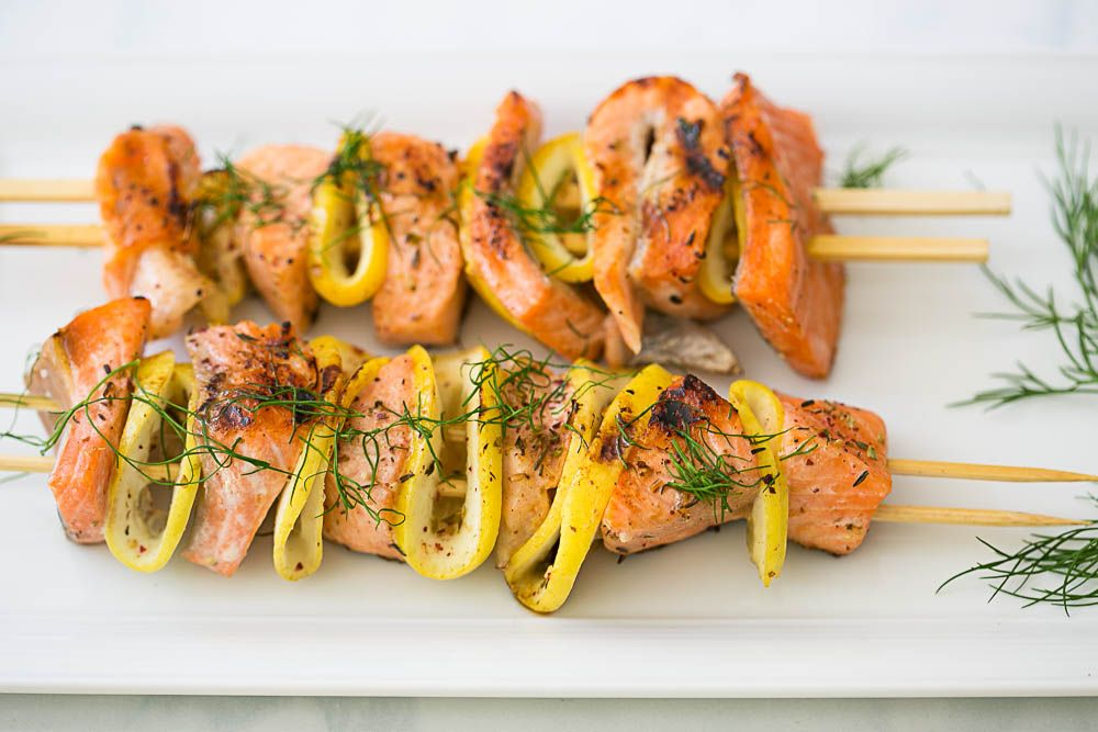 Middle-Eastern Spiced Salmon Kebabs | Weeknight Meals by Cook Smarts