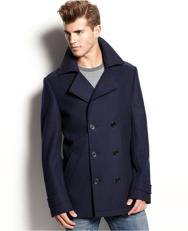 b9c883222 Navy Pea Coat by Hugo Boss. Buy for $495 from Macy's | Men's Product ...