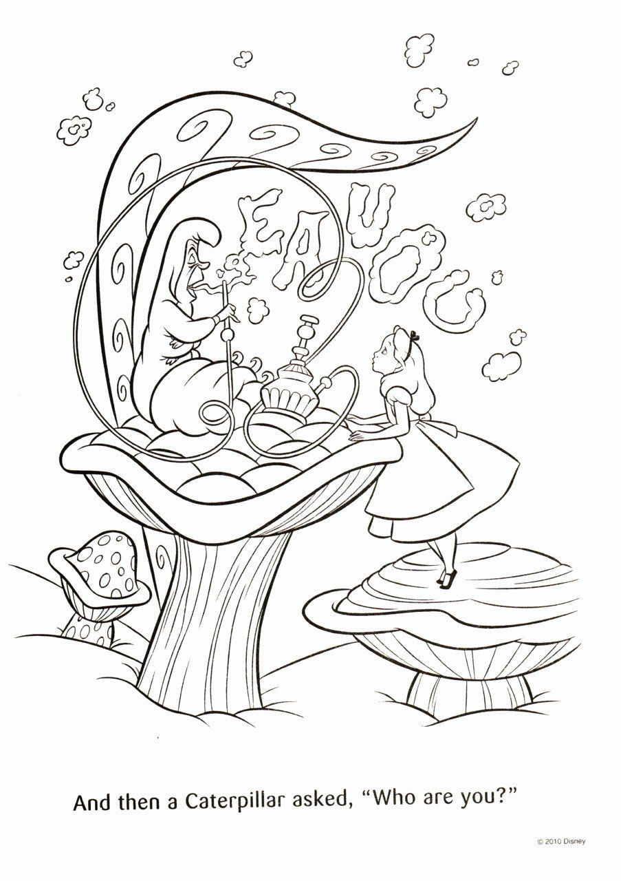 Alice In Wonderland Coloring Page New Coloring Pages Alice
