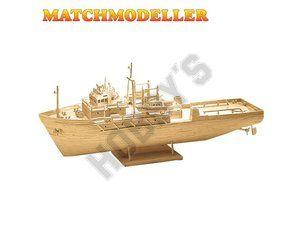 Matchmaker Oil Rig Supply Vessel Matchstick Model | maritime