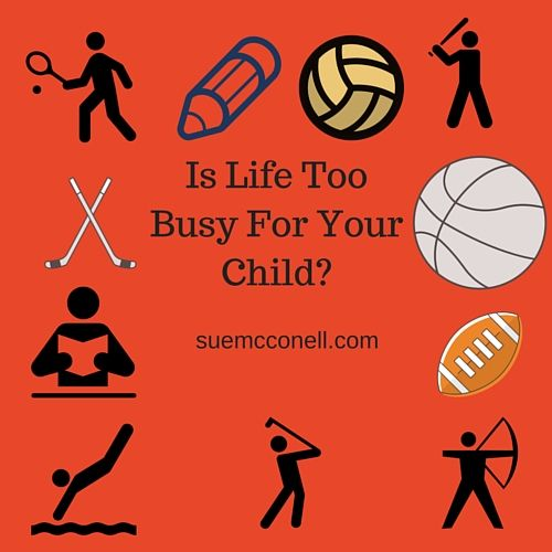 How many after school activities are your children in? Are they moody? Are they having troubles sleeping too much or not enough? Are they acting out more than normal?  They may be overwhelmed with too many activities in their lives.