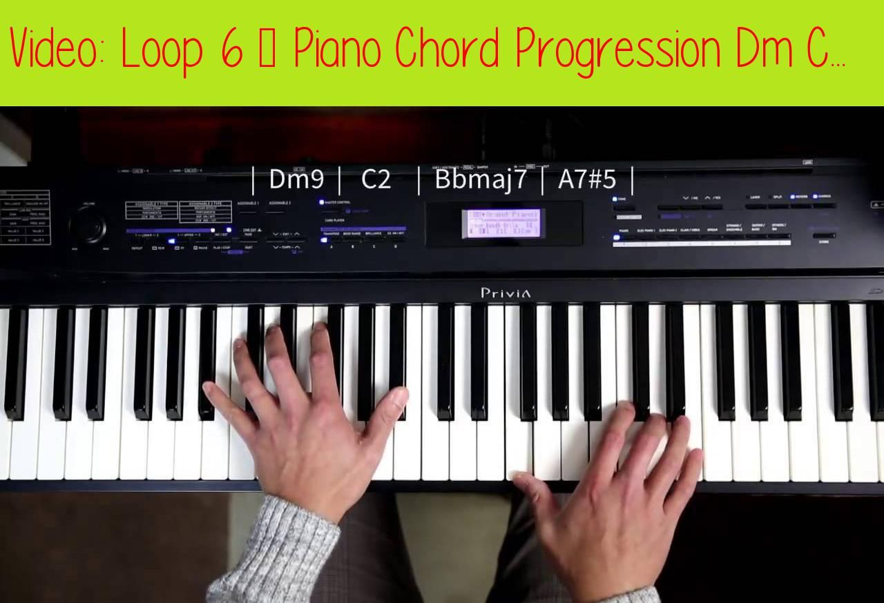 Loop 6 - Piano Chord Progression Dm C Bb AThis video was